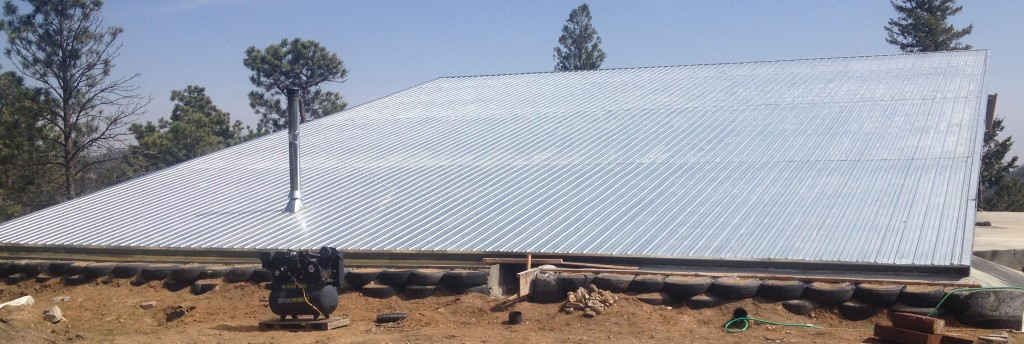 A 4000 square foot roof made of Propanel Steel Roofing.